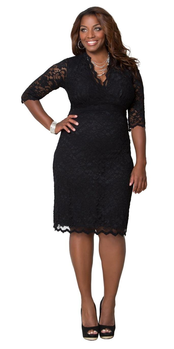 Little Black Plus Size Dresses - Discount Evening Dresses