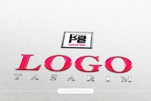 3D logo tasarımı parlak plastik