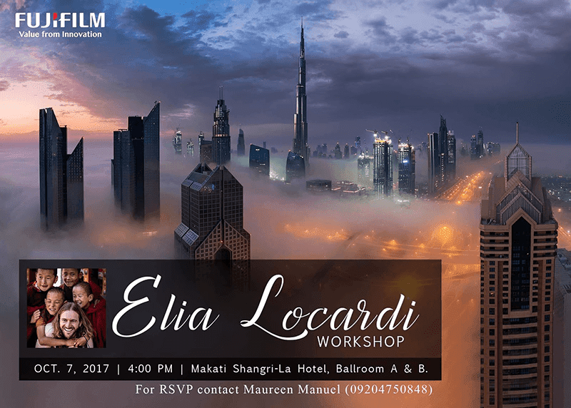 Acclaimed Professional Travel Photographer Elia Locardi Is Coming To Manila!
