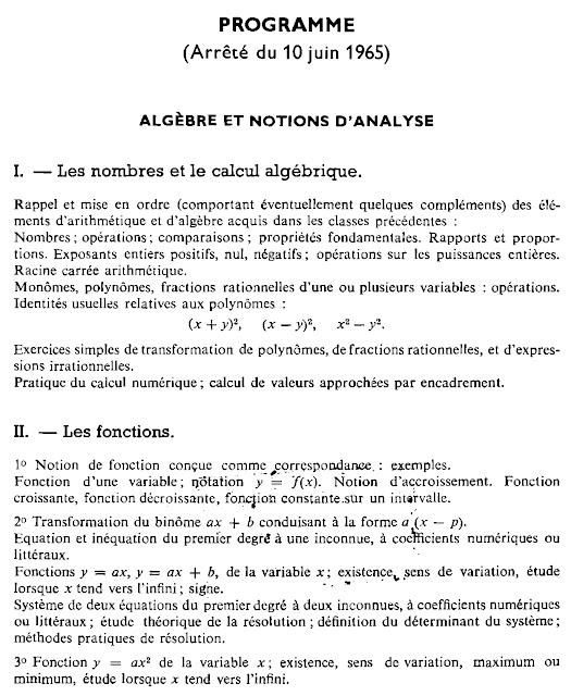 Les programmes de maths de 1882 à nos jours - Page 2 Programme%2Bde%2Bseconde%2B10%2Bjuin%2B1965%2Ba