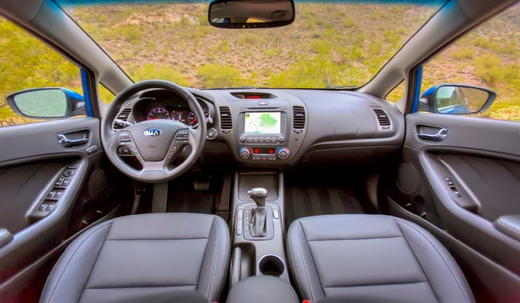 Interior view of 2014 Kia Forte