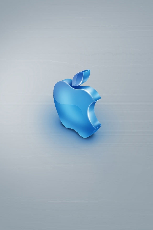 iphone 4 4s wallpaper blue apple hd wallpapers 9to5wallpapers