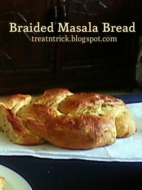 Braided Masala Bread Recipe @ treatntrick.blogspot.com