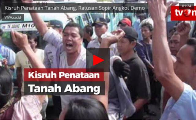 Ternyata Demo Angkot di Tanah Abang karena Ada Ancaman