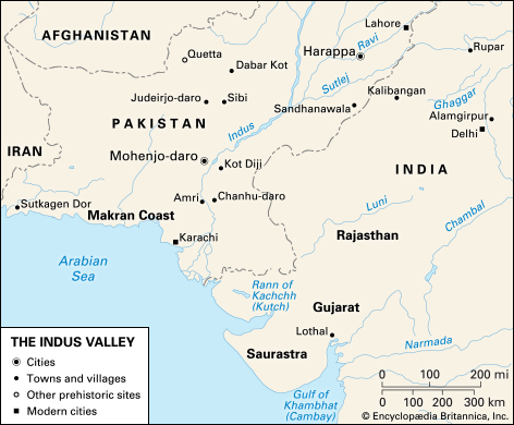 indus valley civilization map - 998×824