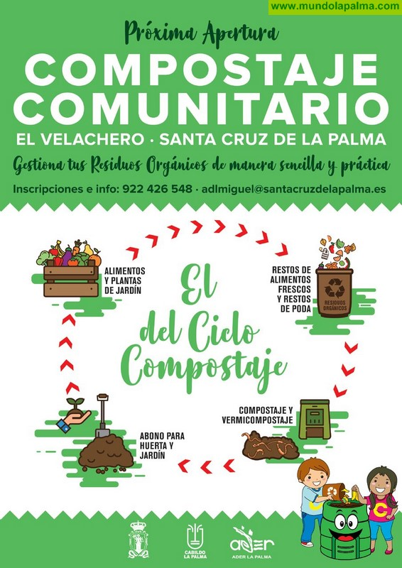 El Ayuntamiento de Santa Cruz de La Palma invita a tomar parte en el primer proyecto de compostaje comunitario del municipio