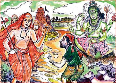Lord Shiva came as Panchma and give enlightment to Adi Sankaracharya