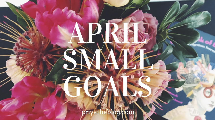 Priya the Blog, Nashville lifestyle blog, Nashville lifestyle blogger, Small Goals April