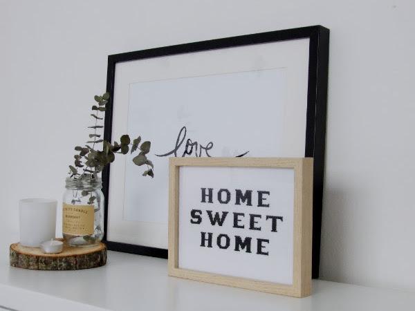 Hogar dulce hogar, cuadro frases