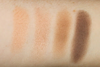 MAC eye shadow eyeshadow pro palette 4 pans Grain Naked Lunch Wedge Mystery travel quad swatch swatches