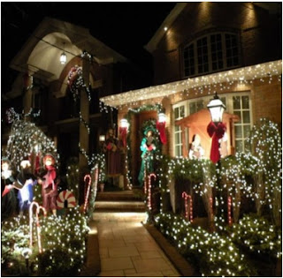 decoración de navidad exterior, como decorar la navidad por fuera,  como decorar el jardin en navidad