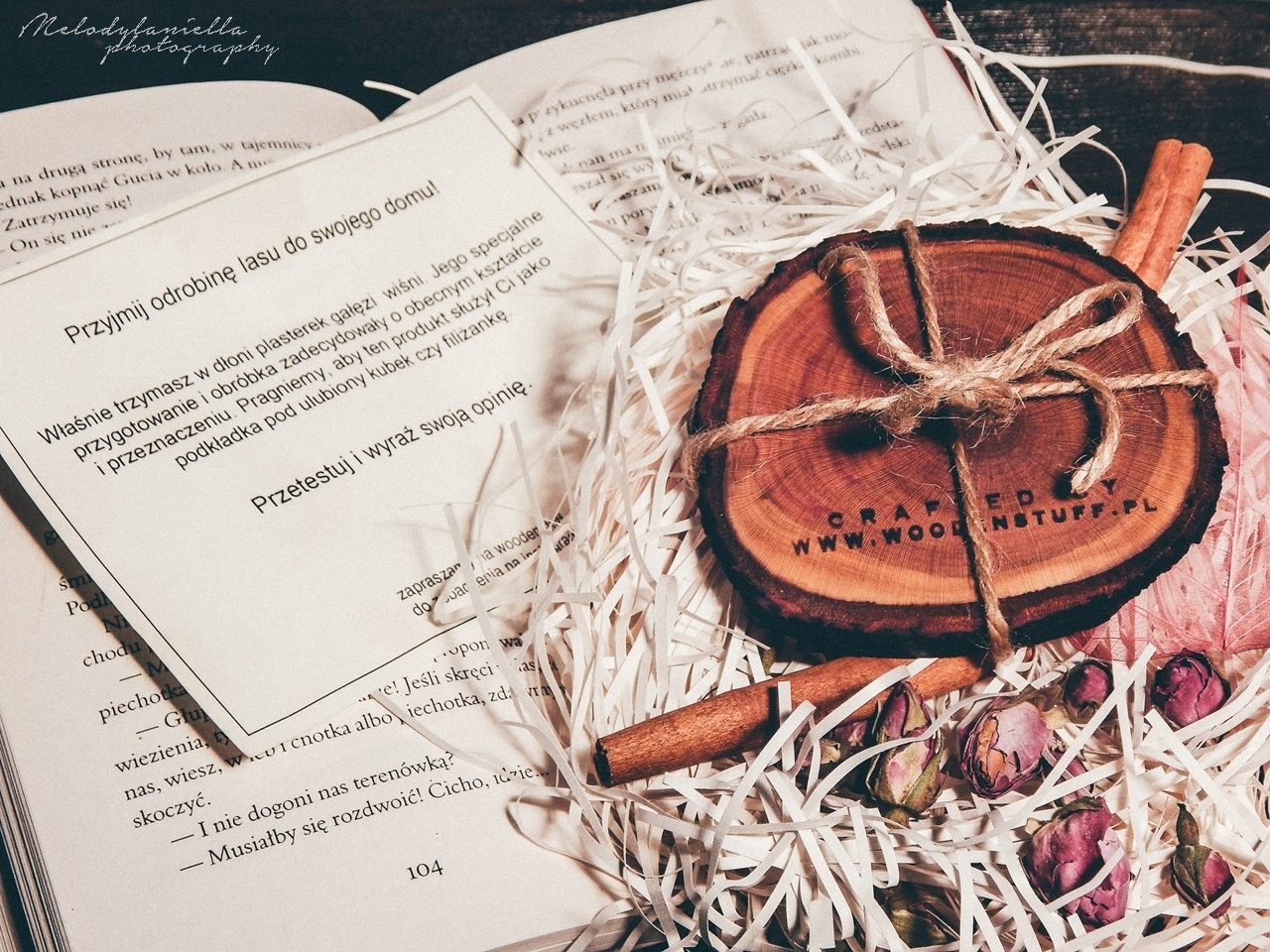 cudowne drewniane dodatki do domu podkladka pod kubek swietny prezent woodenstuff