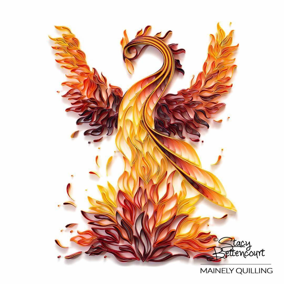 01-Rising-Phoenix-Stacy-Bettencourt-Quilling-Animals-and-Game-of-Thrones-www-designstack-co