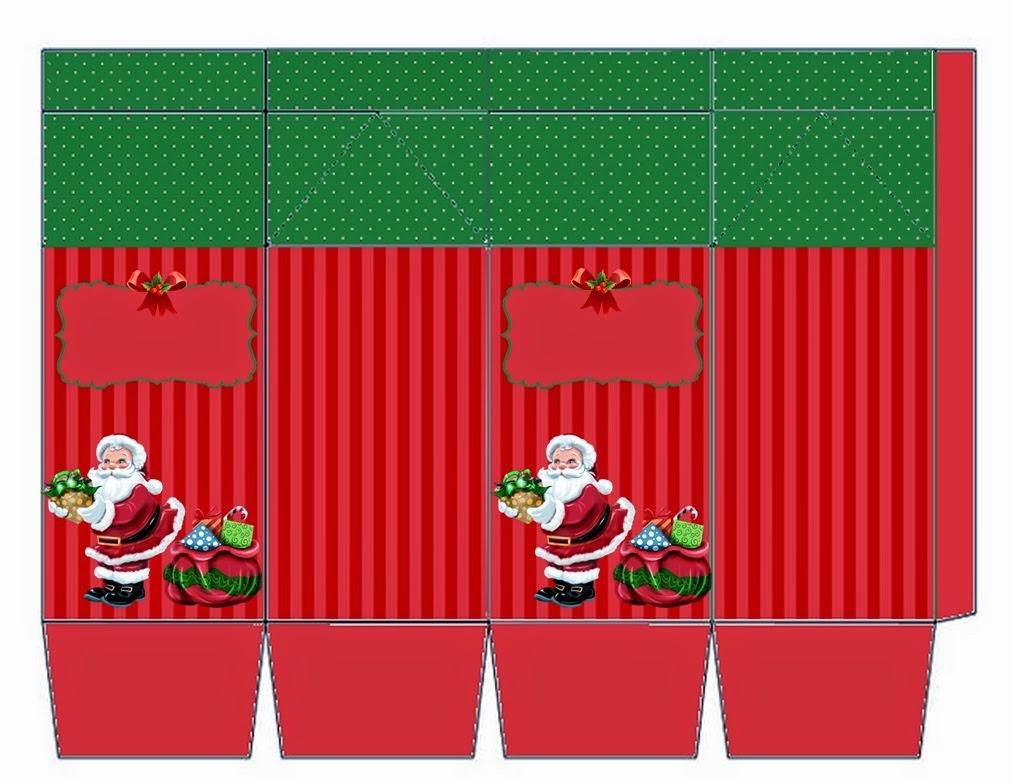 Cajas de Santa en Navidad para imprimir gratis.