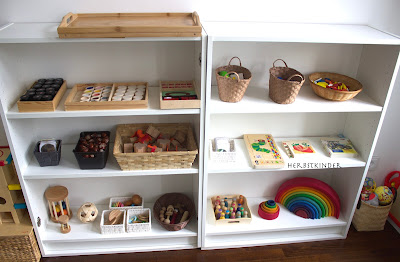 Montessori Kinderzimmer Spielregal vorbereitete Umgebung
