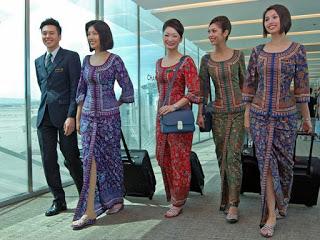 Model Baju Setelan Batik Pramugari Terbaru