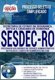 Apostila SESDEC RO 2017
