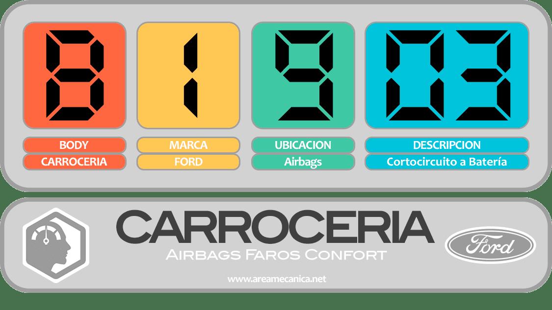CODIGOS DE FALLA: Ford (B1900-B19FF) Carrocería | OBD2 | DTC