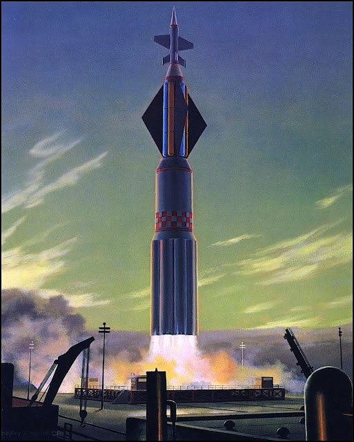 Chesley Bonestell rocket launch