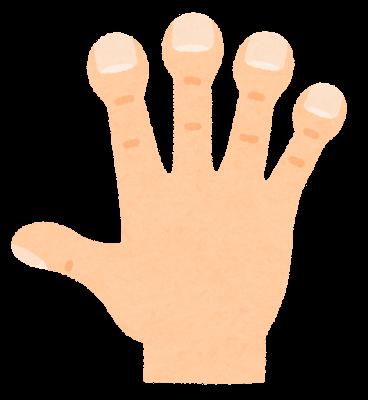 ばち指のイラスト
