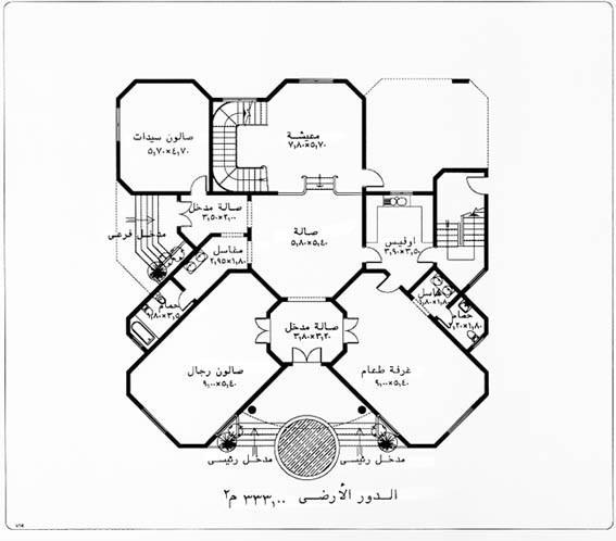 خرائط منازل التصميم الرابع عشر