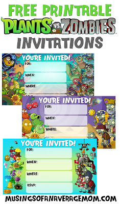 plants vs zombies birthday printables