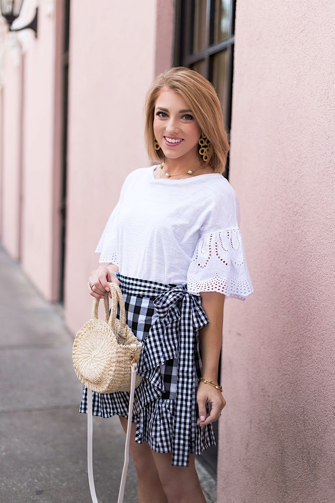Gingham Wrap Skirt in Charleston, SC. - Something Delightful Blog