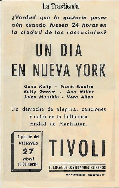 Programa de Cine - Un Día en Nueva York - Gene Kelly - Frank Sinatra - Vera Ellen - Ann Miller