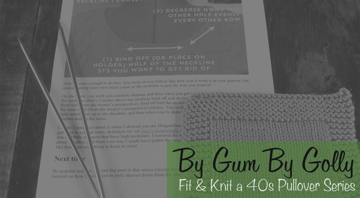 Fit and knit a pullover sweater