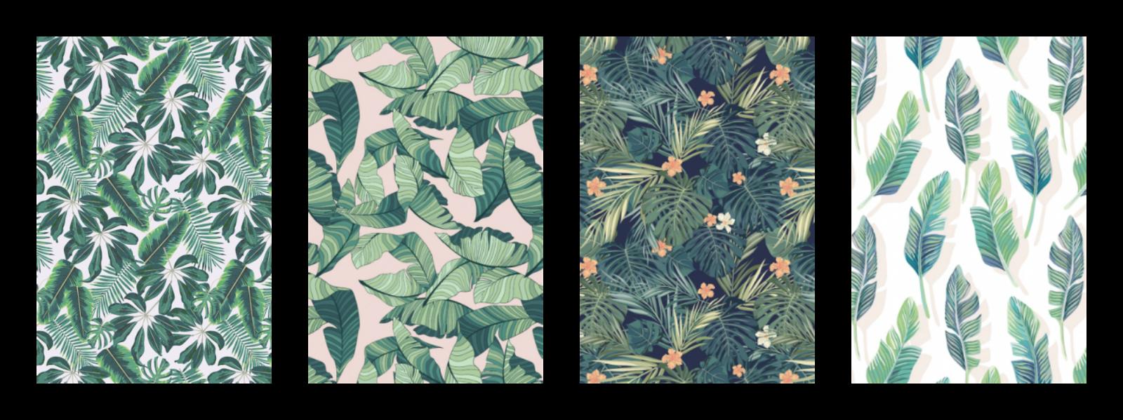 Tropical fever on the walls la tazzina blu bloglovin for Carta da parati disegni
