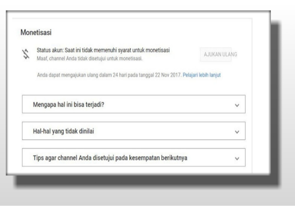 Penyebap Dismon Channel Youtube Tidak Ada Logo Dolarnya