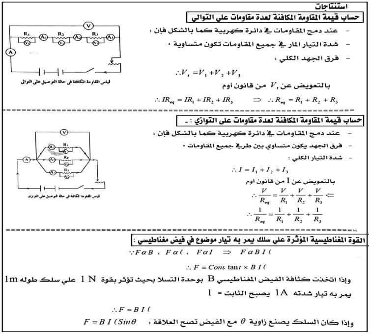 مسائل فيزياء مجابة .. مهمة جدا لطلاب ثانوية عامة 5