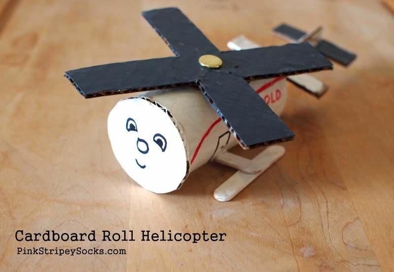 cardboard roll helicopter craft
