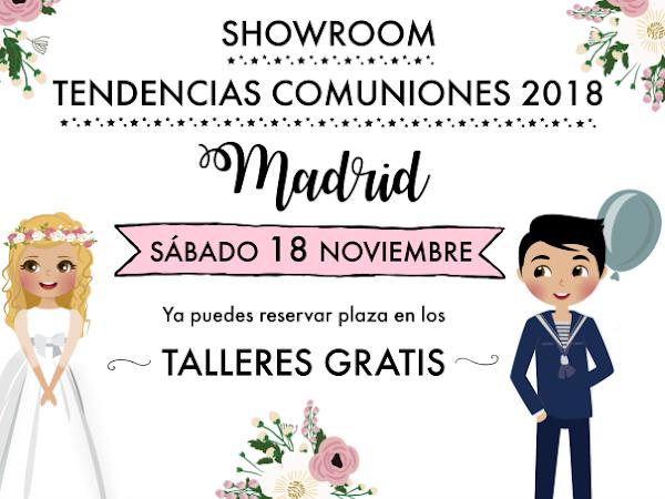 Talleres Gratis - Tendencias en Comuniones 2018 Madrid