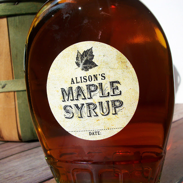 custom maple syrup stickers