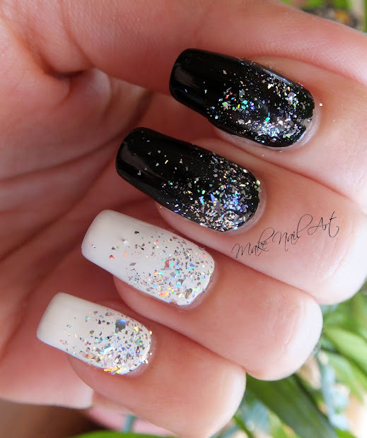 black and white holographic glitter