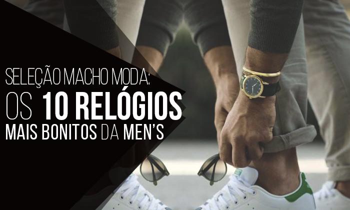 Seleção Macho Moda  Os 10 Relógios Masculinos mais bonitos da Men s Market e8d69ebf16d5f