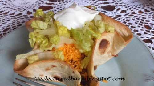 Eclectic Red Barn: Turkey tacoswith cheese lettuce and sour cream