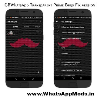 GBWhatsApp Transparent Prime v5.85 WhatsAppMods.in