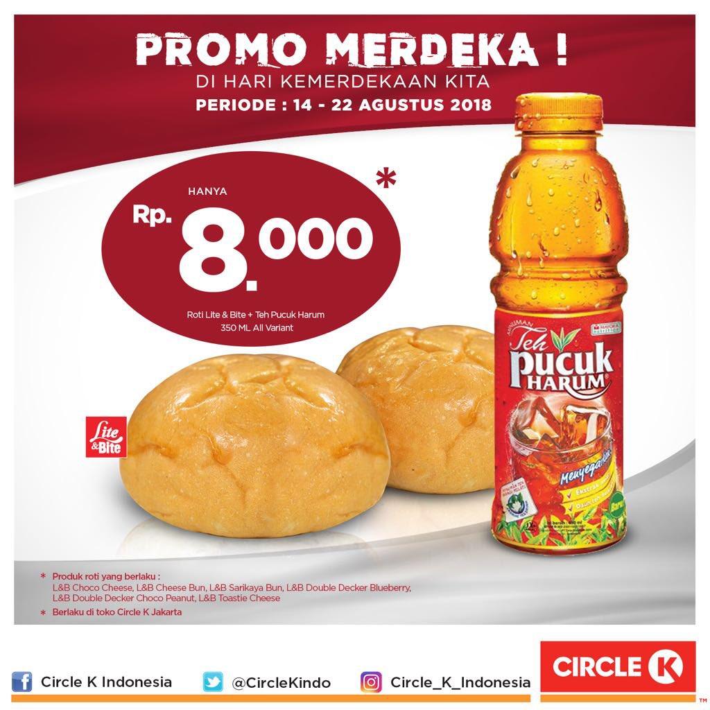 CircleK - Promo Roti Lite & Bite + Teh Pucuk Harum 350ml Cuma 8 Ribu (s.d 22 Agustus 2018)