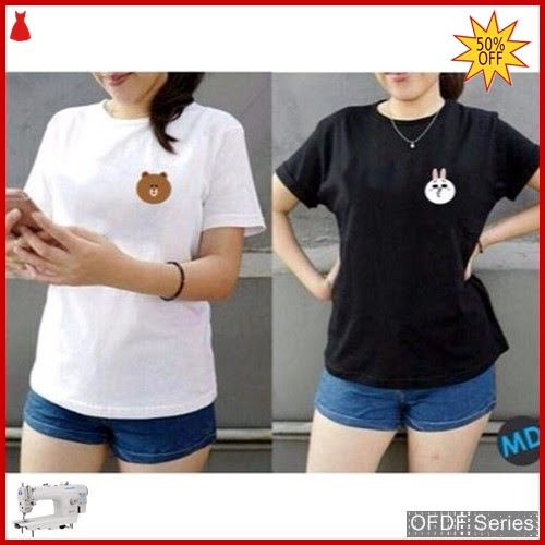 OFDF317 Atasan Kaos Tshirt Vili Browna 2w BMGShop
