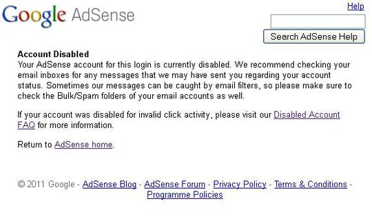 How To Get Your Google Adsense Account Banned