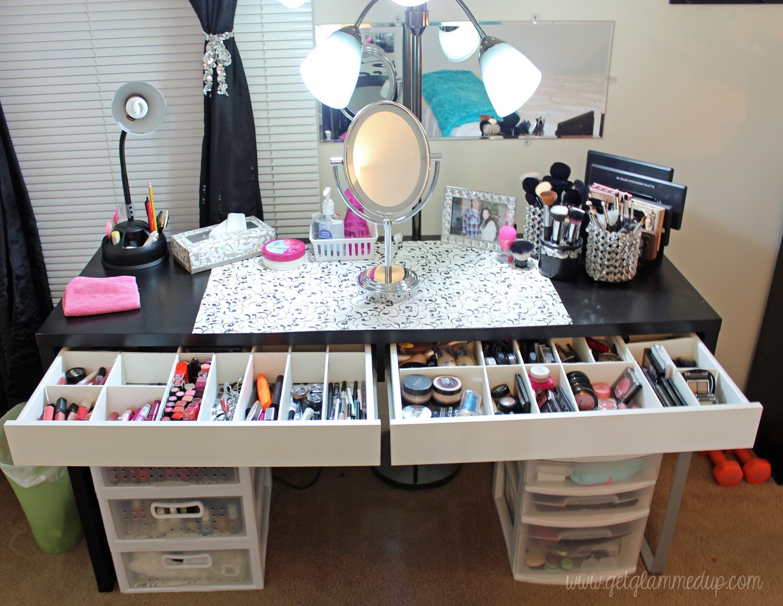 Video beauty room tour updated makeup collection for Beauty table organiser