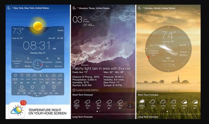 Widget Prakiraan Cuaca iPhone - Weather Live