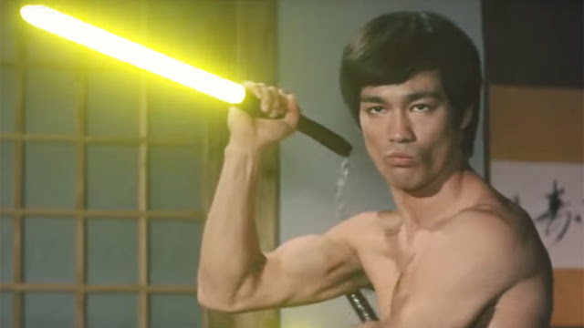 Bruce Lee Uses Lightsaber Nunchucks in This Fan Edit