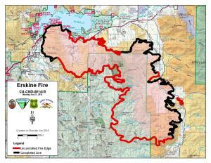 Lake Isabella Fire Map.Sierra Sentinel News Serving The Sierra Nevada Communities Erskine