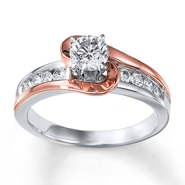 Two Tone Rose Gold Wedding Rings