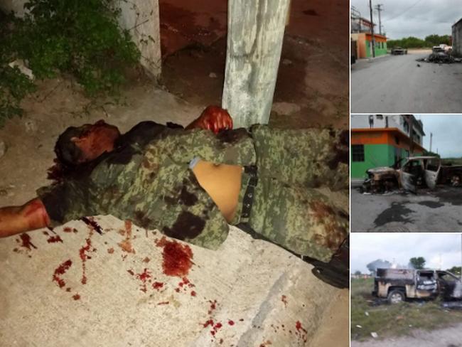 Fotos, Miguel Alemán, Tam, convertido en campo de batalla, Grupos rivales se enfrentan brutalmente