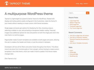 Taproot WordPress Theme