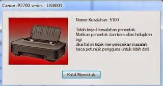 terjadi kesalahan/error 5100